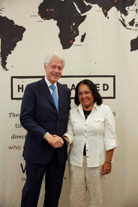 2014_Maria und Bill Clinton