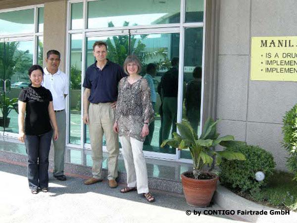 Monika Herbst (Contigo) zu Besuch bei Manila Welcome